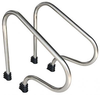 Поручень для лестниц из двух элементов Emaux ARP-F (фланцевое крепление)