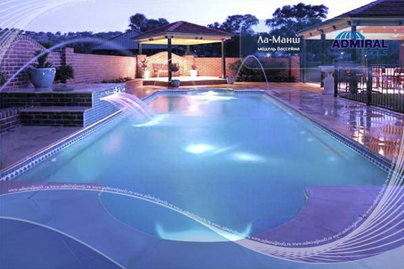 Бассейн Admiral Pools прямоугольный Ла-Манш размер 11х4,10 м