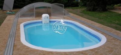Бассейн Delfy овальный Ниагара 6 размер 6,40х2,80 м