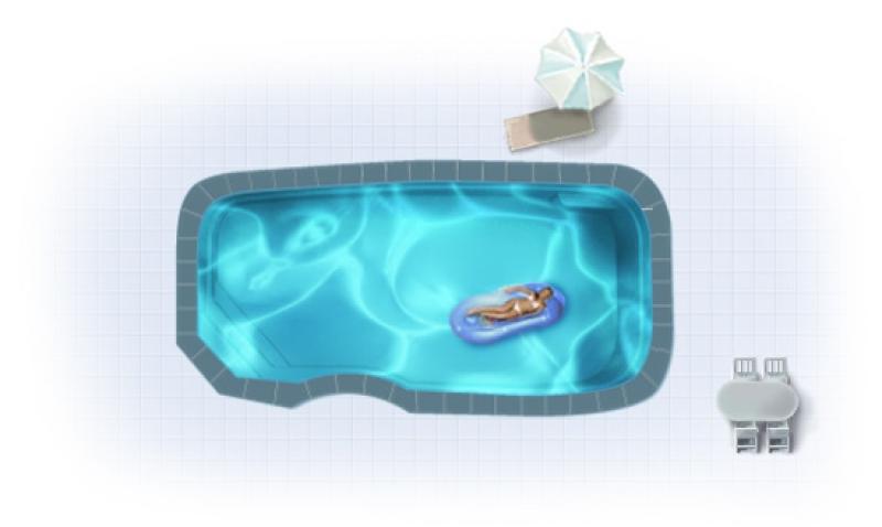 Бассейн Admiral Pools прямоугольный Родос Элит размер 8,30х4,25 м