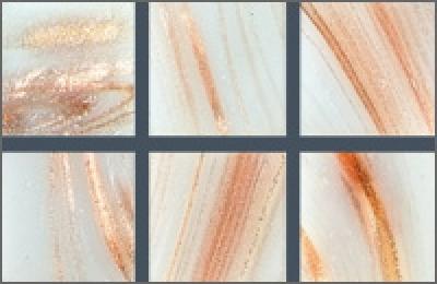 Мозаика стеклянная однотонная Rose Gold Star 10х10 мм G02