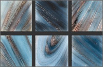 Мозаика стеклянная однотонная Rose Gold Star 20х20 мм G56(5)
