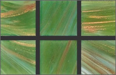 Мозаика стеклянная однотонная Rose Gold Star 20х20 мм GA23
