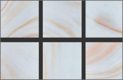 Мозаика стеклянная однотонная Rose Gold Star 20х20 мм GA29