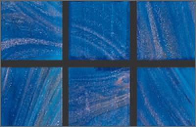 Мозаика стеклянная однотонная Rose Gold Star 20х20 мм GA47
