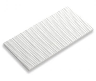 Плитка фарфоровая Serapool противоскользящая Potikare белая 12,5х25 см, без глазури