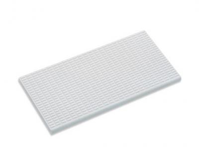 Плитка фарфоровая Serapool противоскользящая Potikare белая 12,5х25 см, без глазури, с буртиком