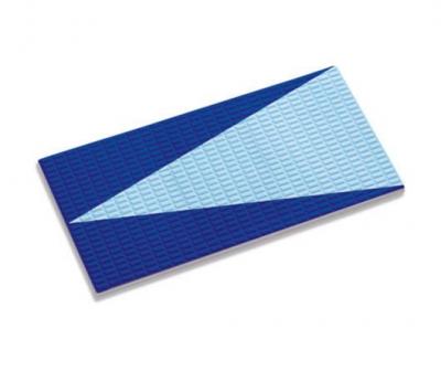 Плитка фарфоровая Serapool противоскользящая Potikare Kaymaz (с цифрами и надписями) 12,5x25 см, кобальт, стрелки-голубые