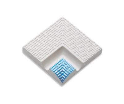 Плитка фарфоровая Serapool противоскользящая поручень Potikare голубой 12,5х12,5 см, внутренний угол