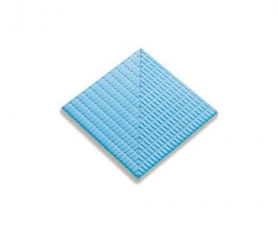Плитка фарфоровая Serapool противоскользящая Potikare голубая 12,5х12,5 см, угол