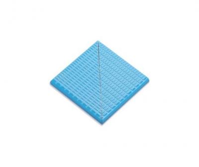 Плитка фарфоровая Serapool противоскользящая Potikare голубая 12,5x12,5 см, частупениглаз, наруж. угол, с буртиком