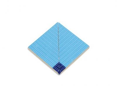 Плитка фарфоровая Serapool противоскользящая Potikare кобальт-голубая 12,5х12,5 см, внутренний угол с буртиком