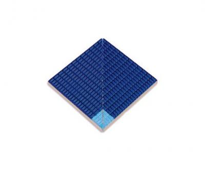 Плитка фарфоровая Serapool противоскользящая Potikare голубая-кобальт 12,5х12,5 см, внутренний угол, с буртиком