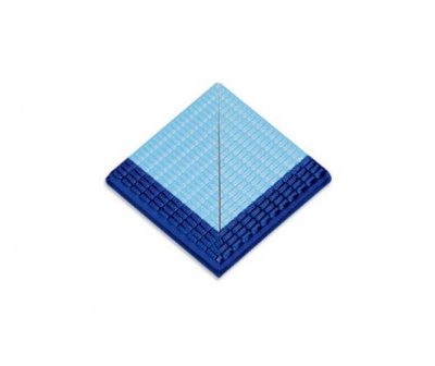 Плитка фарфоровая Serapool противоскользящая Potikare кобальт-голубая 12,5х12,5 см, наружный угол, с буртиком