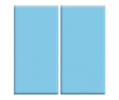 Плитка фарфоровая Serapool глазурованная 12,5x25 см голубая