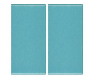 Плитка фарфоровая Serapool глазурованная 12,5x25 см бирюзовая