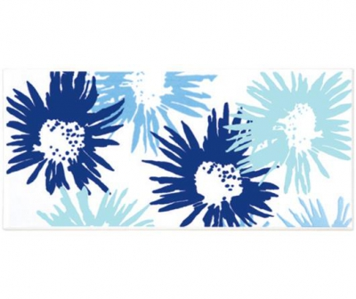 Плитка фарфоровая Serapool бордюр с рисунком 12,5х25 см Цветы
