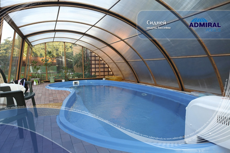 Бассейн Admiral Pools овальный Сидней размер 7,30х3,60 м
