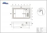Бассейн Admiral Pools прямоугольный Виктория 6 размер 6,00х3,60 м