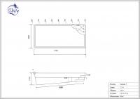 Бассейн Delfy прямоугольный Анхель 7 размер 7,70х3,60 м