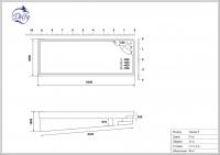 Бассейн Delfy прямоугольный Анхель 9 размер 9,40х3,60 м