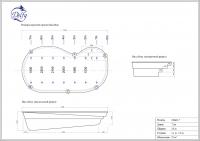 Бассейн Delfy овальный Монге 7 размер 7,30х3,60 м