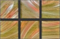 Мозаика стеклянная однотонная Rose Gold Star 10х10 мм G21