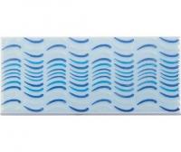 Плитка фарфоровая Serapool бордюр с рисунком 12,5х25 см Фосфорный