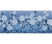 Плитка фарфоровая Serapool бордюр с рисунком 12,5х25 см Пена