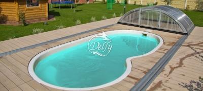 Бассейн Delfy овальный Веттис 5 размер 5,10х2,55 м