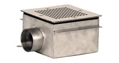 Слив донный под плитку Xenozone квадратный (СД.50.1)
